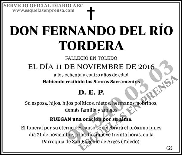 Fernando del Río Tordera